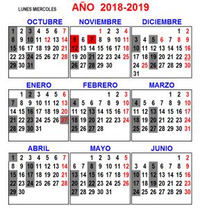Lunes Miercoles 2018 - 2019